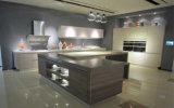 Gabinete de cozinha do revestimento do MDF da melamina (Zg-010)