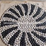 Black Polished White Pebble Stone per il giardino/Landscaping Flooring Paving