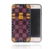 プラスSamsung J5の主なJ2主なA810 2016年iPhoneのための1つのめっきの格子TPU+PC携帯電話の箱に付きコンボ材料2つ7/7 (XSEH-026)