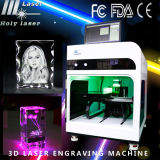 3D laser Engraved Crystal Cube Machine du laser Scanner Engraving Machine 3D