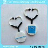 De medische Aandrijving van de Flits van de Stethoscoop USB van pvc van de Douane van de Gift (ZYF1004)