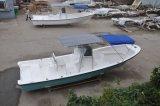 Barco de pesca de Liya 7.6 contadores de la T-Tapa de la fibra de vidrio de Ce de aluminio del barco