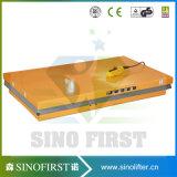table élévatrice électrique de ciseaux de levage hydraulique fait sur commande de palette de 3ton 3000kg