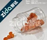 Il campione libero che impacca il vaso di plastica del campione vuoto per compone la polvere allentata