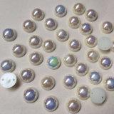 Перлы Flatback цветастого ABS Ab пластичные половинные круглые