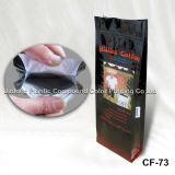 Plastique botttom Gousset Valve Bag Café avec fermeture éclair