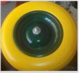 Qualität PU-Schaumgummi-Rad mit Reichweite und PAHs freier Bescheinigung (400-8)