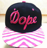 Hip-Hopschutzkappen-kundenspezifischer kundenspezifischer Stickerei-Form-Hut