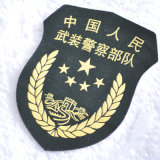 Custom militar Logo Embroidery Badge con Hot Melt Adhesive