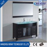 Governo di vanità della stanza da bagno di legno solido dell'unità dello specchio di disegno semplice