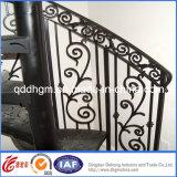 Используемые конкурентоспособной ценой напольные конструкции перил лестницы ковки чугуна от фабрики