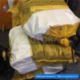 Saco poli amarelo do engranzamento para a lenha de empacotamento