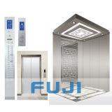 Pasajeros FUJI rayita acero inoxidable Ascensor Ascensor, con sala de máquinas o sin cuarto de máquinas