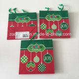 Mini bolso del regalo del papel de imprenta de la Navidad