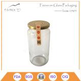 食糧缶詰になることのための金属の帽子が付いている中国の工場卸売のガラス容器
