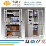 Кухонный шкаф хранения металла Lh-23 для офисной мебели с 2 ящиками