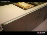 Welbom stellte Standardlack-Küche-Schrank mit Countertop und Wanne ein