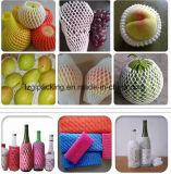 Réseau de empaquetage de chemise de mousse en plastique d'utilisation d'industrie des bouteilles de vin de fruits de catégorie comestible