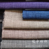 Polyester decorativo Linen Fabric con Backing per Sofa
