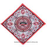 Il marchio personalizzato ha stampato il Bandana promozionale del grande fazzoletto dell'involucro della testa del cotone