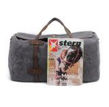 安い工場価格の防水ワックスのキャンバスの組合せの革Duffle旅行袋