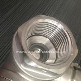 Valvola a sfera di modo dell'acciaio inossidabile 3 con la maniglia