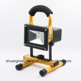 CE RoHS Waterproof 5hrs Portable Rechargeable 10W LED Flood Light