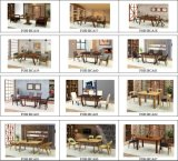 Fábrica barata da mobília do restaurante das cadeiras de tabelas da madeira compensada curvada