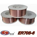 Wrie que suelda consumible que suelda (AWS A5.18 ER70S-6)
