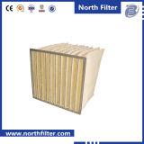 Filtro a sacco medio della fibra di vetro per depurazione d'aria