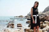 Nuevo verano de la alineada del diseño de la venta al por mayor de la ropa de las alineadas negras de las mujeres