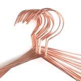 Percha de ropa de cobre del alambre de metal del oro de Rose de la percha de la manera
