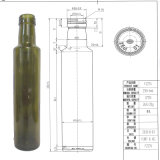 250ml Dorica Antoque grüne Olivenöl-Glasflasche in Schraubverschluss-