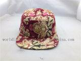 Sombrero llano de encargo del motorista del panel de la flor 5
