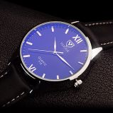 Relógio azul de quartzo do ponteiro do projeto conciso do relógio de pulso do negócio da alta qualidade H318