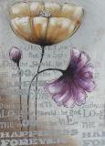 Peinture à l'huile populaire de décoration de maison de fleur