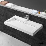 Тазик мытья ванной комнаты Corian проекта гостиницы твердый поверхностный