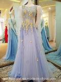 Blosser Ausschnitt-Partei-Abschlussball-formale Kleider, die Abend-Kleid T1791 bördeln