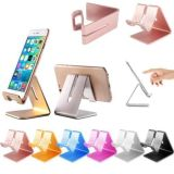 Supporto da tavolino di alluminio del supporto del basamento del ridurre in pani del telefono delle cellule per iPad/iPhone