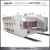Multicolors de papel corrugado de impresión de asignación de fechas y máquina de troquelado
