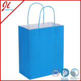 Cheap verde Kraft Paper Bags com Twisted Handle