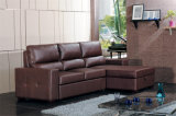 余暇のイタリアの革ソファーの家具(712)
