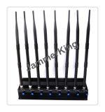 Aislador de la señal del teléfono móvil; emisión de la señal 2g+3G+4G+2.4G+Lojack+Gpsl1; 8 antena Lojack, 433, 315, GPS, sistema celular de la emisión
