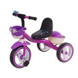 Purpurrote Farbe scherzt Dreiradfahrrad mit Korb