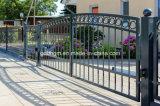 黒色火薬のDriverwayのための上塗を施してある鉄の塀のゲート