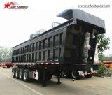 3-4axlesの重い運搬量の後部/側面のダンプのトレーラー