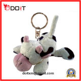Kundenspezifisches angefülltes Tier Keychain Kuh-Plüsch-Spielzeug-Schlüsselkette für förderndes