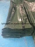 Couverture en plastique vert-foncé de finition de bâche de protection