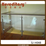 サテンミラーの壁に取り付けられた304ステンレス鋼のバルコニーの柵のガラス手すり(SJ-H053)