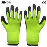 乳液によって塗られる冬作業手袋(LS704)